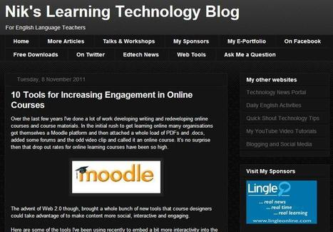 10 Tools for Increasing Engagement in Online Courses | Tecnología, enseñanza y aprendizaje de lenguas | Scoop.it