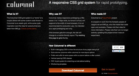 Columnal | A responsive CSS grid system helping desktop and mobile browsers play nicely together. | Web develop | Scoop.it