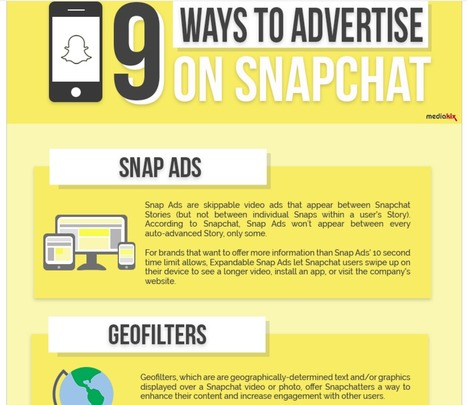 The Nine Ways to Advertise on Snapchat [infographic] | Simply Measured | SocialMoMojo Web | Scoop.it