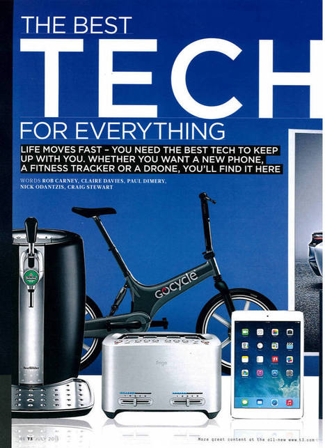 Gocycle G2 Electric Bike in T3 Gadget Magazine 2015 | Heron | Scoop.it