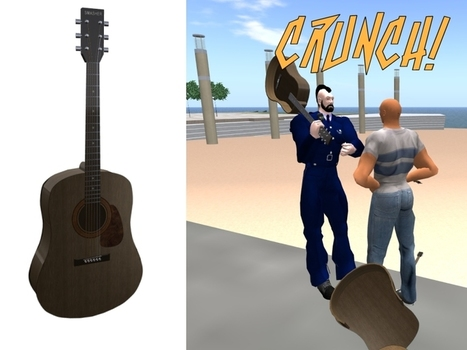 Free Smashable Guitar Melee Weapon by ShortPieceOf String   Teleport Hub   Second Life Freebies   Scoop.it