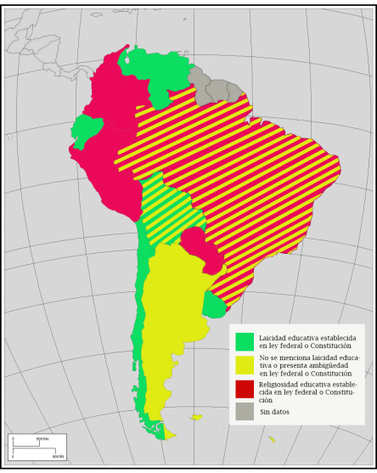 Mapa de la laicidad educativa en América Latina | Educacion, ecologia y TIC | Scoop.it