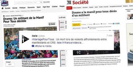 Des opposants au mariage homo créent de faux articles de TF1 et du Monde pour faire croire à la mort d'un manifestant | Les journalistes et les réseaux sociaux | Scoop.it