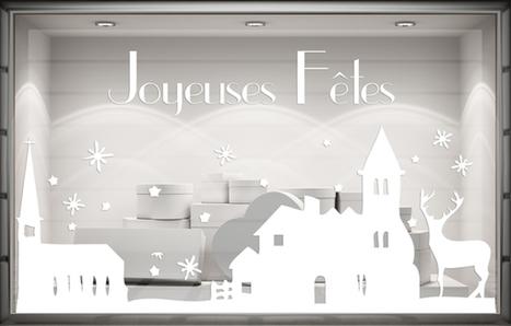 Sticker Noël - Village enneigé. Paris - Graphicarts | Lettrage adhésif et impression numérique | Scoop.it