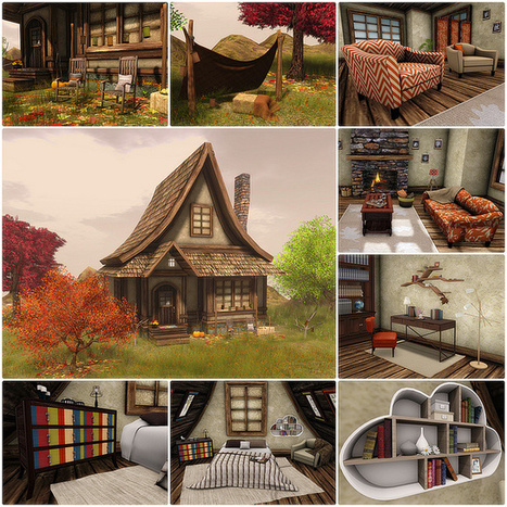 Trompe Loeil - Autumn Cottage @C88   SL Homes & Gardens Scoop   Scoop.it
