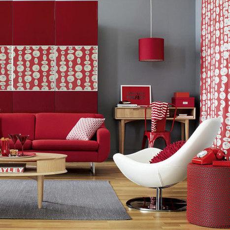 Red Interior Design Inspiration | Designing Interiors | Scoop.it