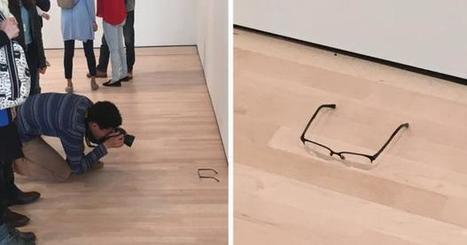 A pair of glasses were left on the floor at a museum and everyone mistook it for art | #arts visuels #graphisme #etc | Scoop.it