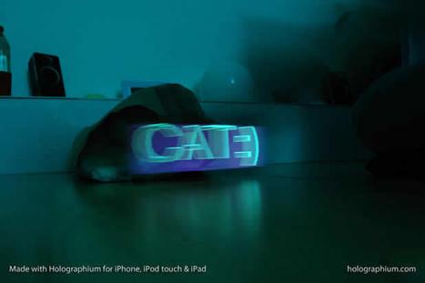 Créer une typographie Holographique avec holographium et un Iphone ... | Digitaleffects | Scoop.it
