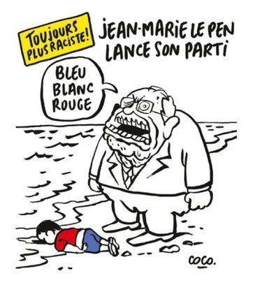 Charlie Hebdo Mocks Europe's Response to Migrant Crisis With Cartoons of Dead Syrian Boy | Refugees and Displaced Peoples | Scoop.it