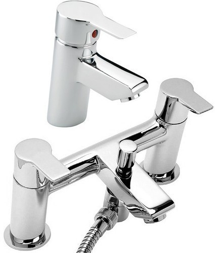 Bath Shower Mixer & Basin Tap Set (Chrome). £179 Tre Mercati Angle TM-ANGLE-AA | Showers, Taps & Bathrooms | Scoop.it