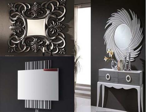 15 hermosos espejos de pared modernos mil id for Espejos rectangulares modernos
