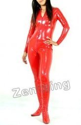 Red PVC Catsuit Zentai [C20018] - $44.00 : Shop Zentai Suits Full Bodysuits And Catsuits From Zentaing.com | zentai catsuit lycra | Scoop.it