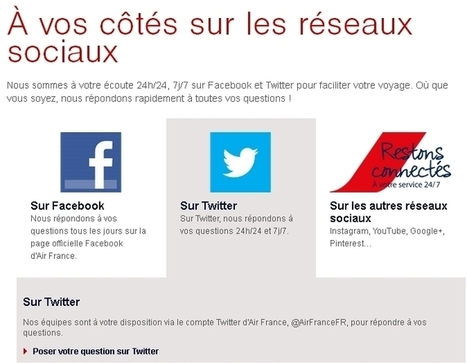 Comment Air France-KLM s'appuie sur ses web conseillers pour gérer les réseaux sociaux | Institut de l'Inbound Marketing | Scoop.it