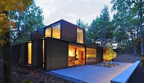 Maison bois contemporaine au bardage bi-tons foncé aux USA | Construire Tendance | Scoop.it