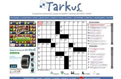 Tarkus, todo tipo de pasatiempos en español para resolver online | Recull diari | Scoop.it