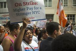 Fast food strikes go super-sized in clash over wages - NBCNews.com (blog) | CLOVER ENTERPRISES ''THE ENTERTAINMENT OF CHOICE'' | Scoop.it