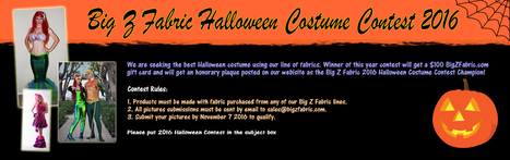 Big Z Fabric Halloween Contest 2016 | Fabric Shopping Online | Scoop.it