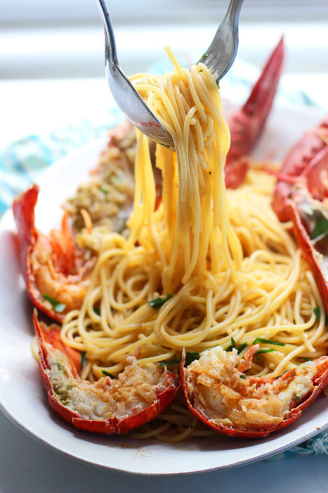 Lobster Spaghetti (Santorini Style) + A Giveaway! | foodie | Scoop.it