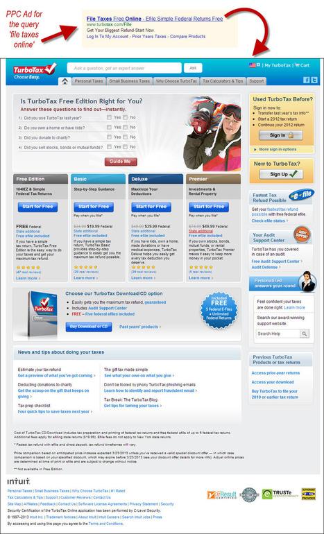 6 Landing Page Optimization Pros Critique A Turbo Tax PPC Landing Page | Optimisation Testing | Scoop.it