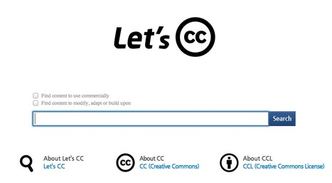 Find Any Type of Creative Commons Licensed Content with Let's CC | Movin' Ahead | Scoop.it