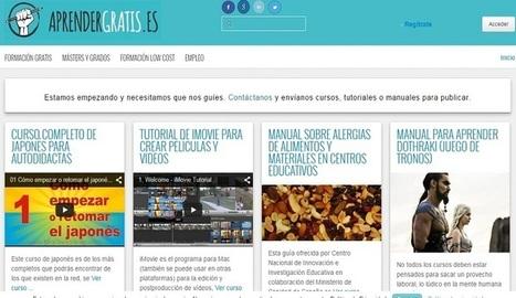 Aprendergratis.es, nuevo sitio donde hacer cursos o encontrar manuales gratis - Nerdilandia | Creatividiario: recursos, inspiración y motivación para creadores en la web | Scoop.it