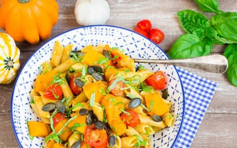 Pumpkin Pasta With Tomatoes and Basil [Vegan] | My Vegan recipes | Scoop.it