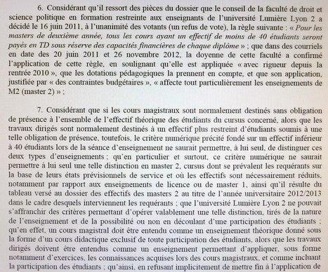 Lyon 2 condamnée par le TA | Enseignement Supérieur et Recherche en France | Scoop.it