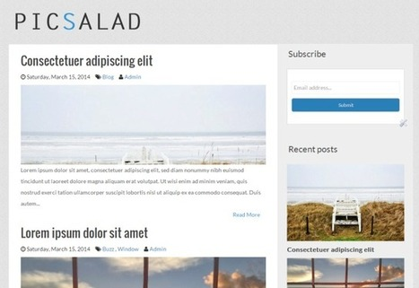 Picsalad - Free Responsive Blogger Blogging Template | Blogspot templates | Scoop.it