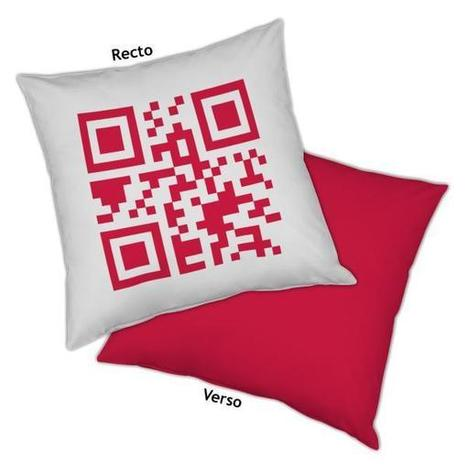 Coussin QR-Code personnalisable | Decodeo | artcode | Scoop.it