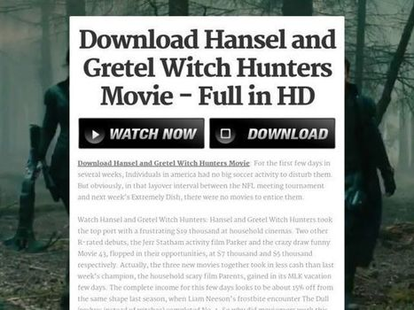Watch Hansel And Gretel Witch Hunters Movie   movies for all   Scoop.it