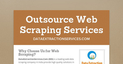 Outsource Web Scraping Services | Data Extraction | Scoop.it