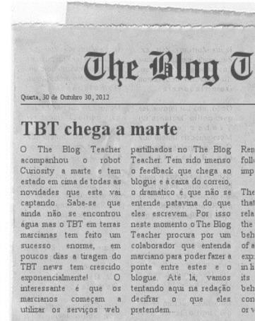 The Blog Teacher: Um clip de jornal | MyScoopIt | Scoop.it