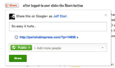 How To Add The New Google+ Share Button to Any Site | Social Media Mashup | Scoop.it