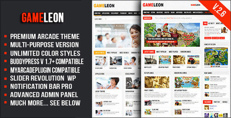 Gameleon 2.6 WordPress Arcade Theme [P] | Download Free Full Scripts | Game Reviews | Scoop.it