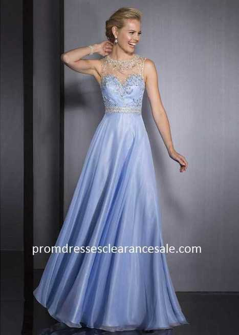 2015 Powder Blue Embellished High Neck Open Back Evening Gown Clearance Sale MpOLLi | nice website | Scoop.it