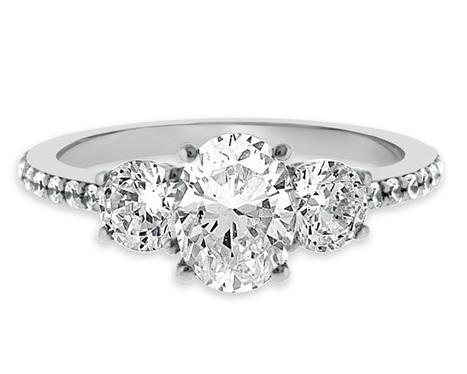 Oval Three Stone Diamond Ring TR1051 | Engagement Rings Dublin | Scoop.it