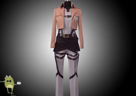 Attack on Titan Eren Jaeger Cosplay Jacket Trainees Squad | Attack on Titan Cosplay Costumes | Scoop.it
