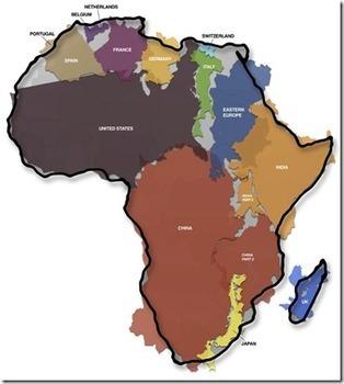 La véritable dimension du continent africain - Le Blog du Business ... | Business en Afrique | Scoop.it