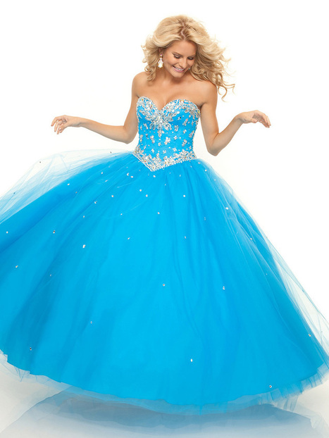 Ball Gown Sweetheart Tulle Floor-length Sleeveless Beading Prom Dresses at pickedlooks.com | 2013 Quinceanera Dresses | Scoop.it