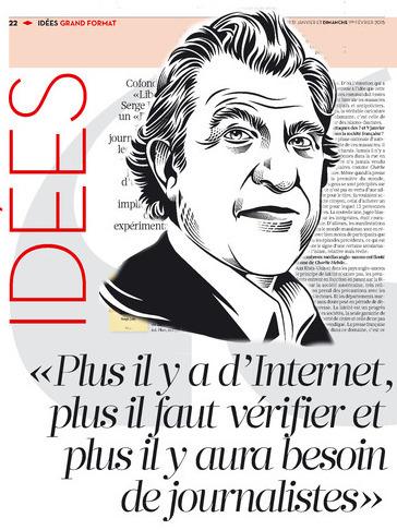 Serge July: «Plus il y a d'Internet,  plus il faut vérifier et plus il y aura besoin de journalistes» | DocPresseESJ | Scoop.it