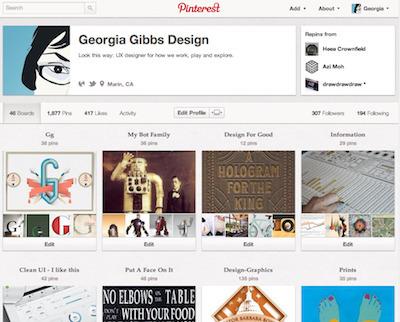 Georgia Gibbs Design Pinterest Board