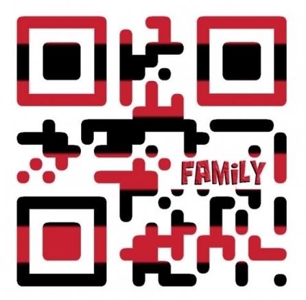 Family QR Code art print, Family quote art, Nursery art, wall hangings | QR Code Art | Scoop.it