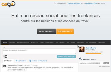 Aego.fr - Le réseau social pour Freelances | Social media manegement | Scoop.it