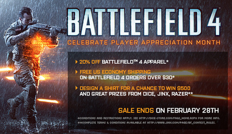 The Battlefield Blog | T-Shirt Design Contest and DICE Store Sale | Gamer of battlefield 4 | Scoop.it