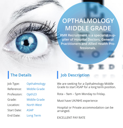 Opthalmology Middle Grade | Medical locums | Scoop.it