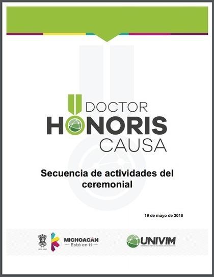 García Aretio: Ceremonial del Acto de Investidura de Doctores Honoris Causa de UNIVIM - Morelia (México) | Educación a Distancia y TIC | Scoop.it