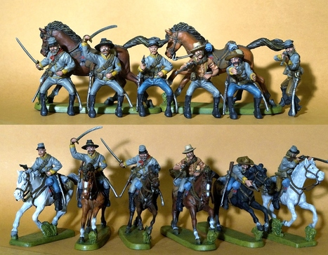 Confederate Cavalry Painted Plastic Toy Soldiers | Military Miniatures H.Q. | Scoop.it