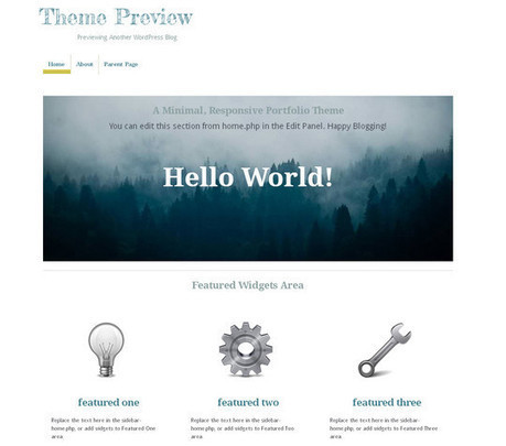 15 Free Minimal and Responsive WordPress Themes | Free and Useful Online Resources for Designers and Developers | Responsive WebDesign | Scoop.it