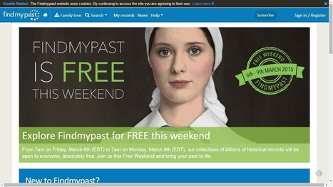 Findmypast Announces Free Weekend 6-9 March 2015 | Genealogy | Scoop.it