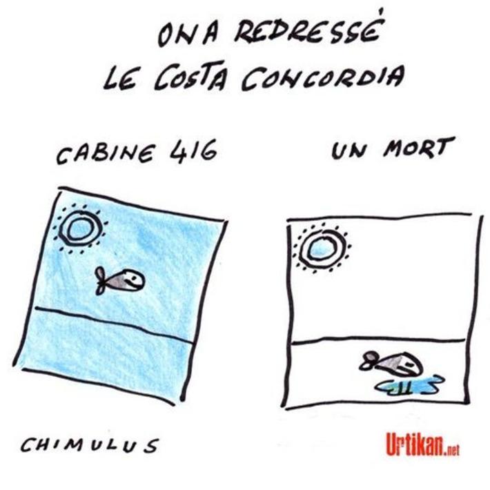 Costa Concordia : le redressement du paquebot naufragé est achevé | Baie d'humour | Scoop.it